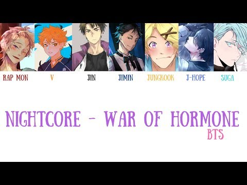 【Nightcore】BTS(방탄소년단) - War of Hormone(호르몬 전쟁) Lyrics [Color Coded_Han_Rom_Eng]