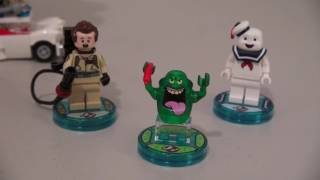 lego dimensions slimer ghostbusters action figure unboxing review puppet steve minecraft