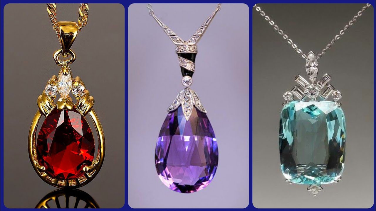 most exotic Luxurious and gorgeous different Gemstone pendents idea's latest Collection