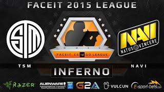 TSM vs NaVi - Inferno (FACEIT 2015 League)(Play on FACEIT for free: http://www.faceit.com FACEIT on Twitter: http://www.twitter.com/faceit FACEIT on Facebook: https://www.facebook.com/FaceitCommunity ..., 2015-04-15T08:23:32.000Z)