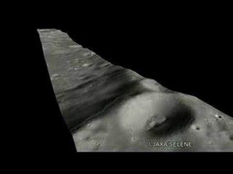 3D Moon Image Around DYSON Crater by KAGUYA's TC 月面3D動画