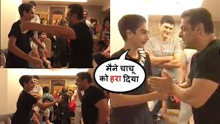 Salman Khan Play game With Nephews Arhaan & Funny moments With family | Sohail Khan,arbaaz khan, Son