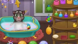 Игра Говорящий кот Том: Купание малыша онлайн