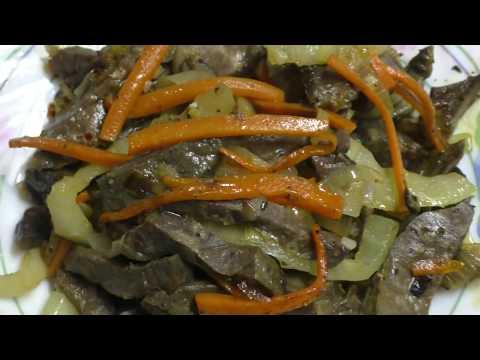 Свиные легкие с овощами//Как вкусно приготовить легкие//Блюда из субпродуктов//Бюджетная вкусная еда