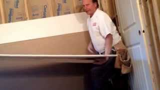 One person Installation of drywall ceilings