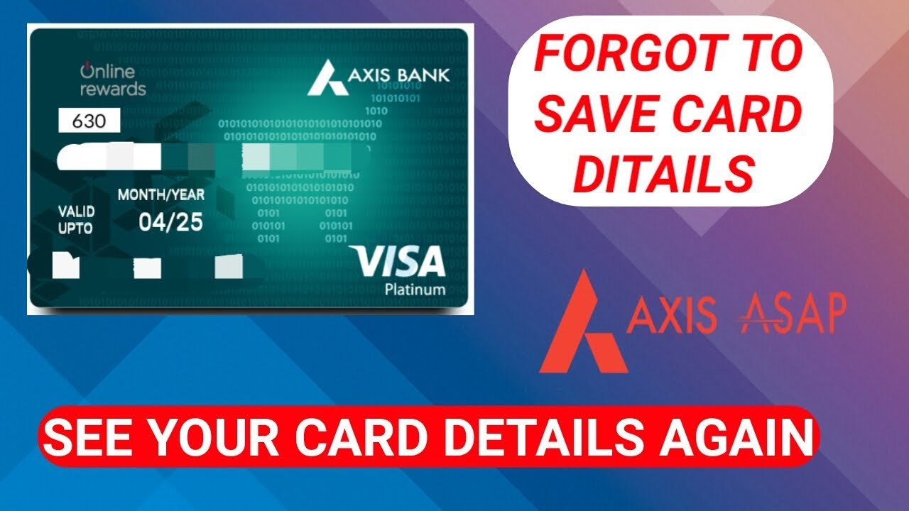 How to get forex card axis account number