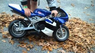 Repeat youtube video Starting my pocket bike