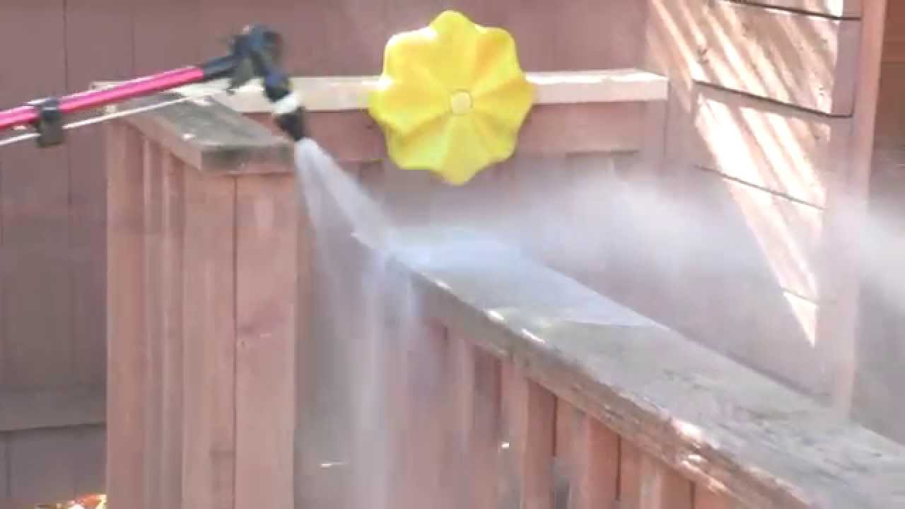 how to clean a wood deck without a pressure washer