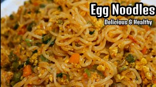 EGG NOODLES Recipe - How to make your instant noodles delicious and healthy - Egg Maggie/Indomie