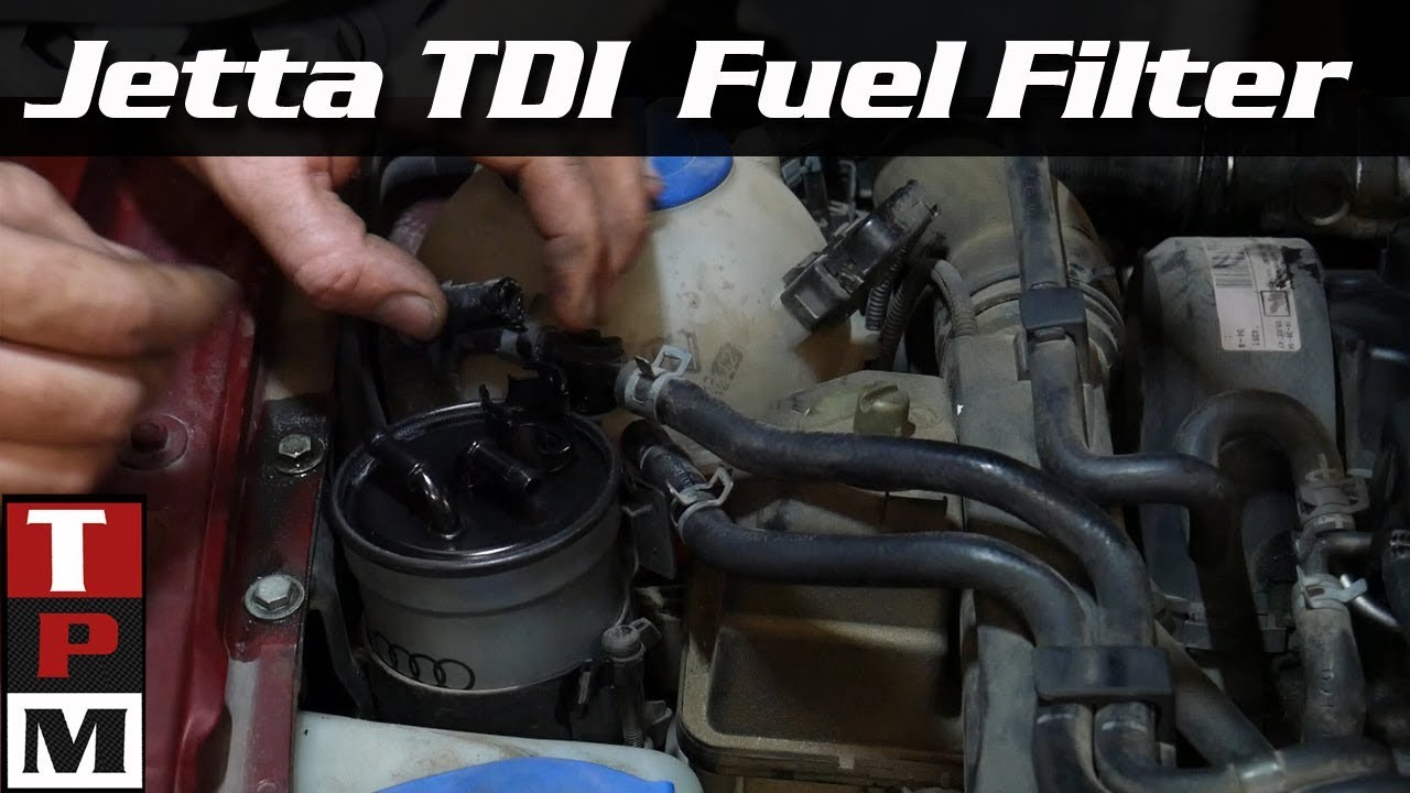 2004 VW Jetta TDI BEW Fuel Filter replacement - YouTubeYouTube