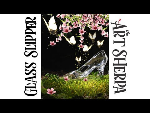 How to paint with Acrylic on Canvas Glass Slipper