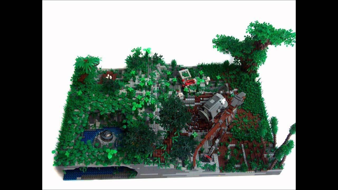 lego jurassic park buildings youtube