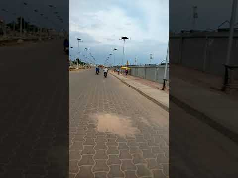 Extra ligthed road in Cotonou Bénin. one  of the Newly built road