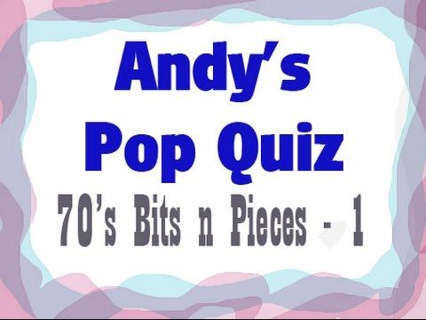 Pop Quiz No8 - 10 x 70s Bits n Pieces - Part 1