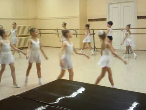 very first steps in Academy of Russian Ballet (preparatory class)