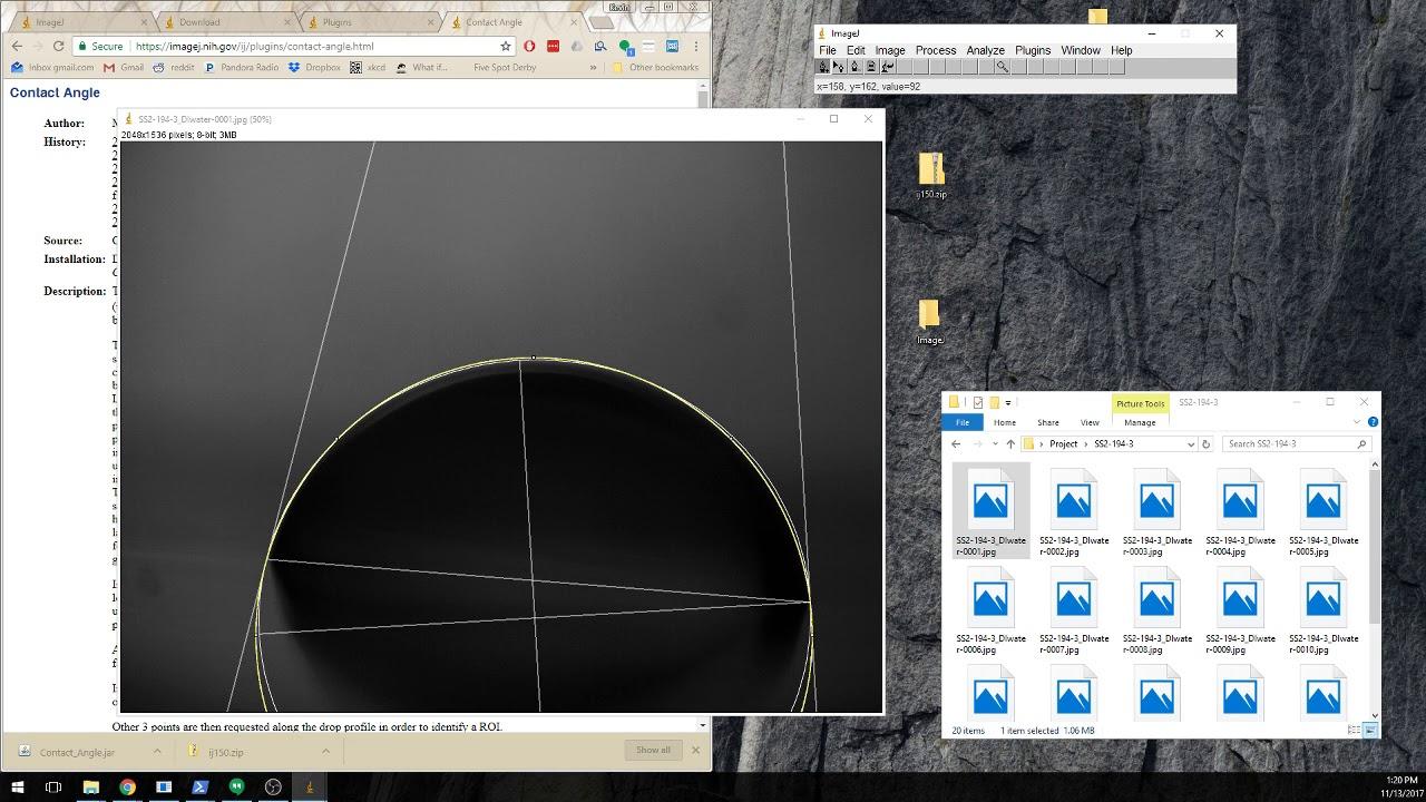 ImageJ Contact Angle Measurement Tutorial
