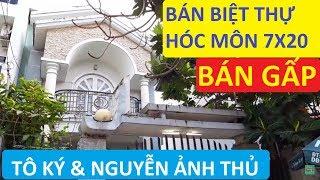 Bán Biệt Thự Hóc Môn  Sân Vườn 7x20m 1.5 Lầu Đường  nhựa thông thoán