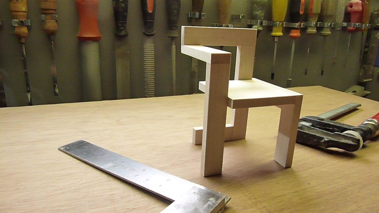 Miniatuur Rietveld Stoel : Diy the making of de miniatuur steltman stoel van gerrit rietveld