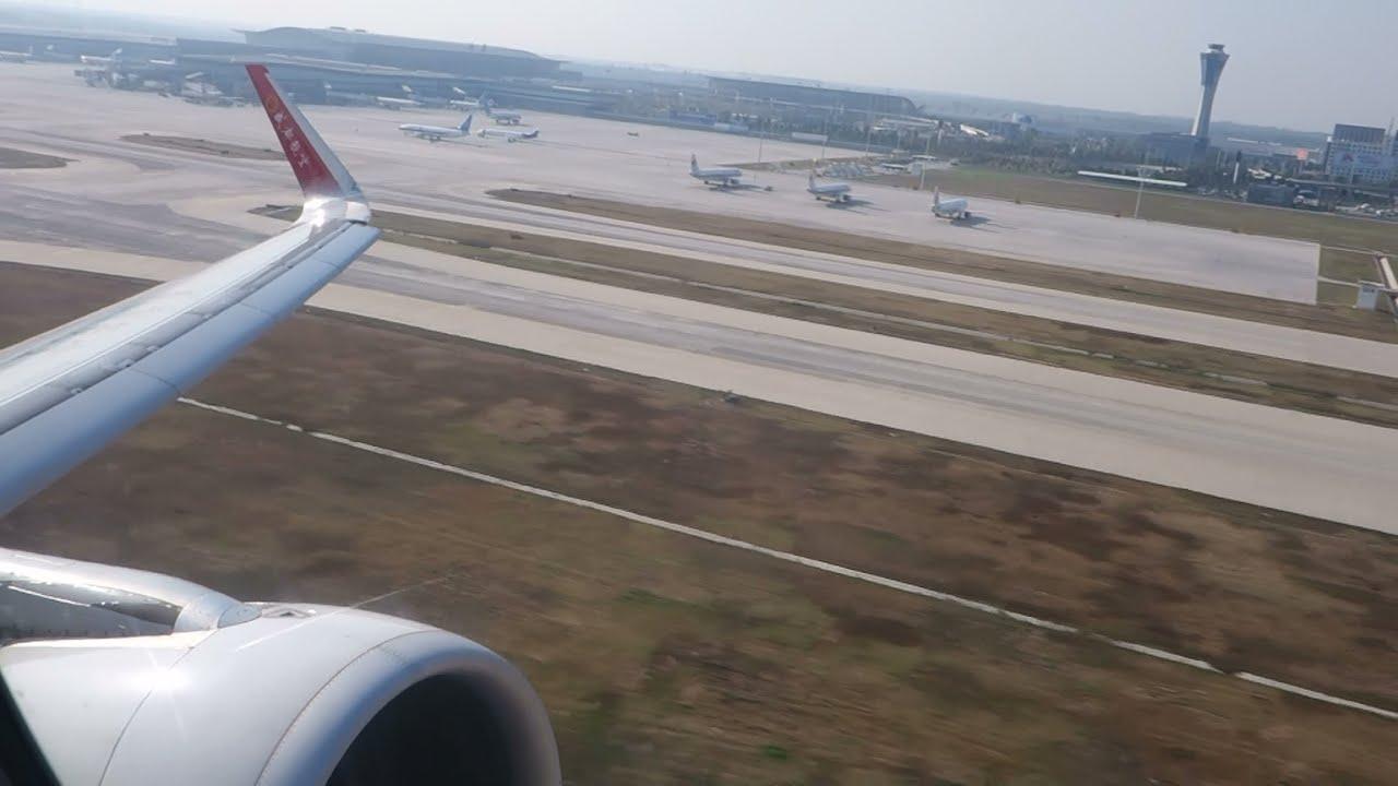 Xian Aeroporto : Hd chengdu airlines takeoff xian zlxy xiy a sharklets