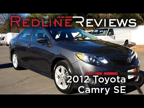 Nice 2012 Toyota Camry SE Review, Walkaround, Exhaust, Test Drive   YouTube