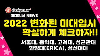 2022학년 서울대 홍익대 고려대 성균관대 한양대(ER…