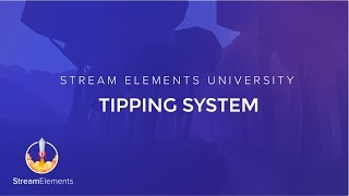 StreamElements Tipping page Setup thumbnail
