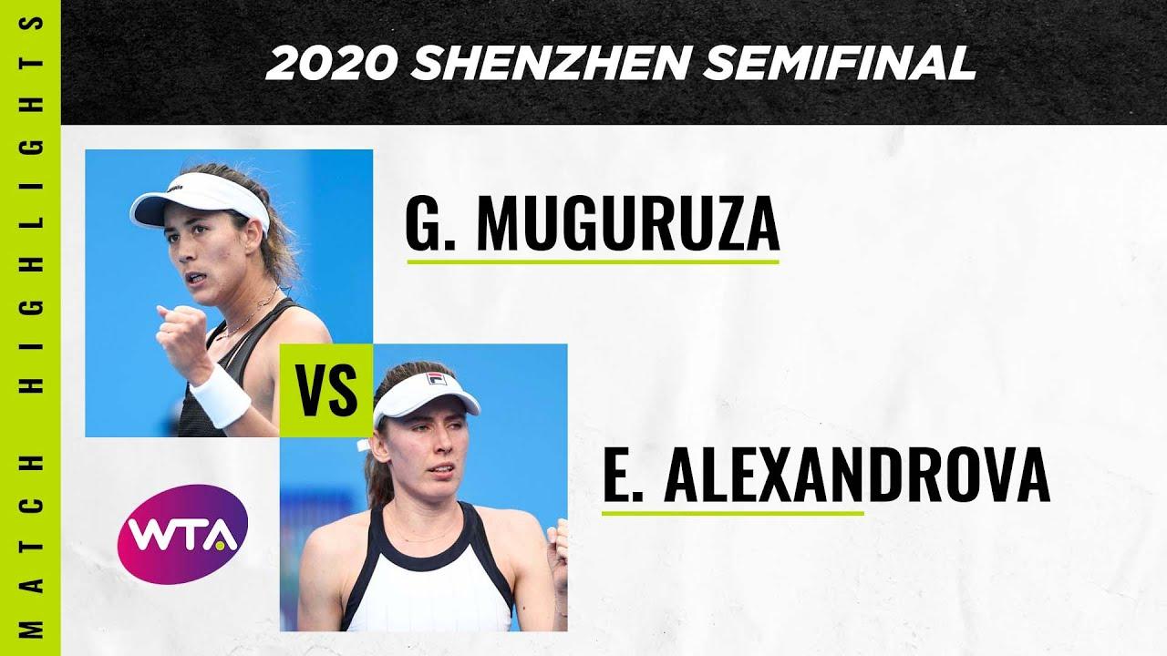 Ekaterina Alexandrova vs. Garbiñe Muguruza | 2020 Shenzhen Open Semifinal | WTA Highlights