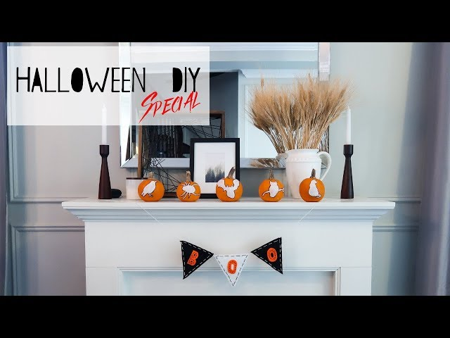 Halloween DIY | Banner & Painted Pumpkins