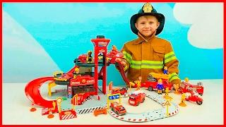 Пожарные Машинки и Пожарная станция для детей | Видео про Машинки и мальчика Пожарного Даника(Пожарные #Машинки и пожарный #Даник на канале #НосикиКурносики сегодня будут строить интересную пожарную..., 2017-02-15T13:00:32.000Z)