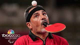 Ibrahim Hamadtou, without arms, impresses in table tennis | Tokyo 2020 Paralympics | NBC Sports
