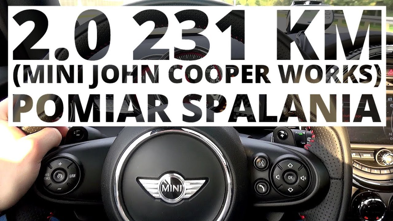 MINI John Cooper Works 2.0 231 KM (AT) – pomiar zużycia paliwa