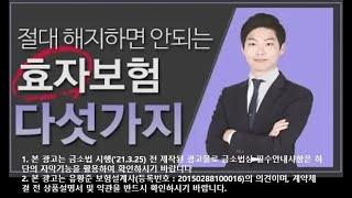 [60만뷰 돌파!!] 절대 해지하면 안 되는 효자보험 5가지!!