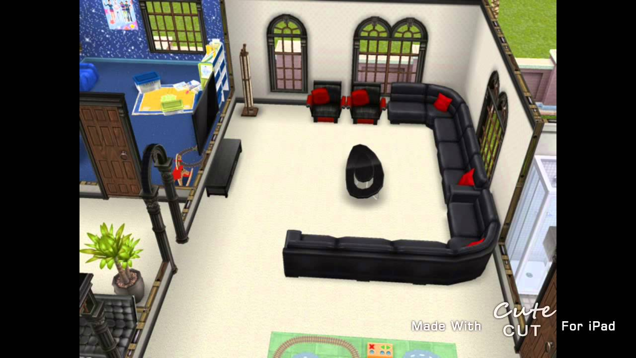 How To Make A Second Floor On Sims Freeplay The Sims Freeplay Two Storey Mansion Second Floor
