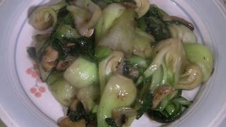 Cooking Chinese Vegetables  (Shanghai Bok Choy Wok Stir Fry)  Traditional Chinese Cooking
