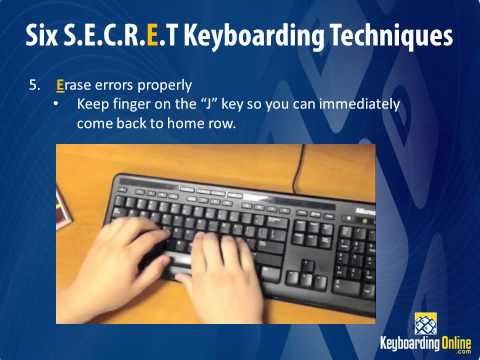 Six Secret Keyboarding Techniques