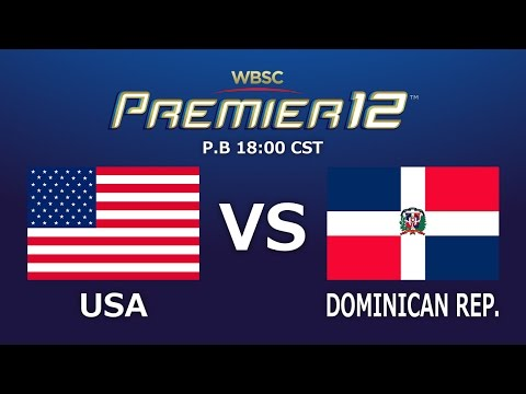 Game 5 Group B United States of America vs Dominican Republic