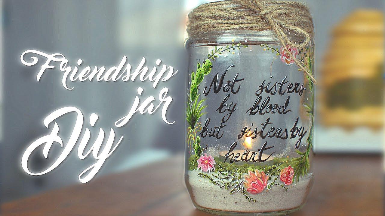 Diy Gift Idea Friendship Jar Painting Tutorial Youtube