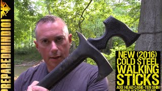 New Cold Steel Walking Sticks: Axe Head Cane, Ten Shin, And More - Preparedmind101