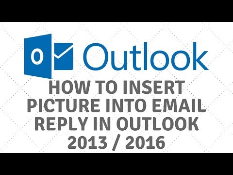 Insert Picture into Email in Outlook 2013 / 2016