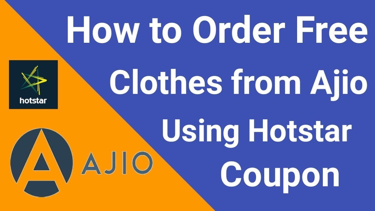 521317bc846 How To Buy Clothes From Ajio.com Using Hotstar Coupon