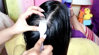 ASMR Scalp Massage Tools Scratching Relaxing Sounds 머리 마사지