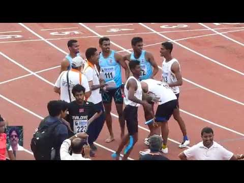 MEN'S 4X400m RELAY.(OLYMPICS TRIALS) 3RDINDIAN GRAND PRIX 2016