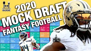 2020 Fantasy Football Mock Draft + What to do with Alvin Kamara?