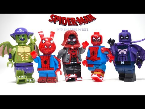 Spider-Man Into the Spider-Verse Unofficial Lego Minifigures