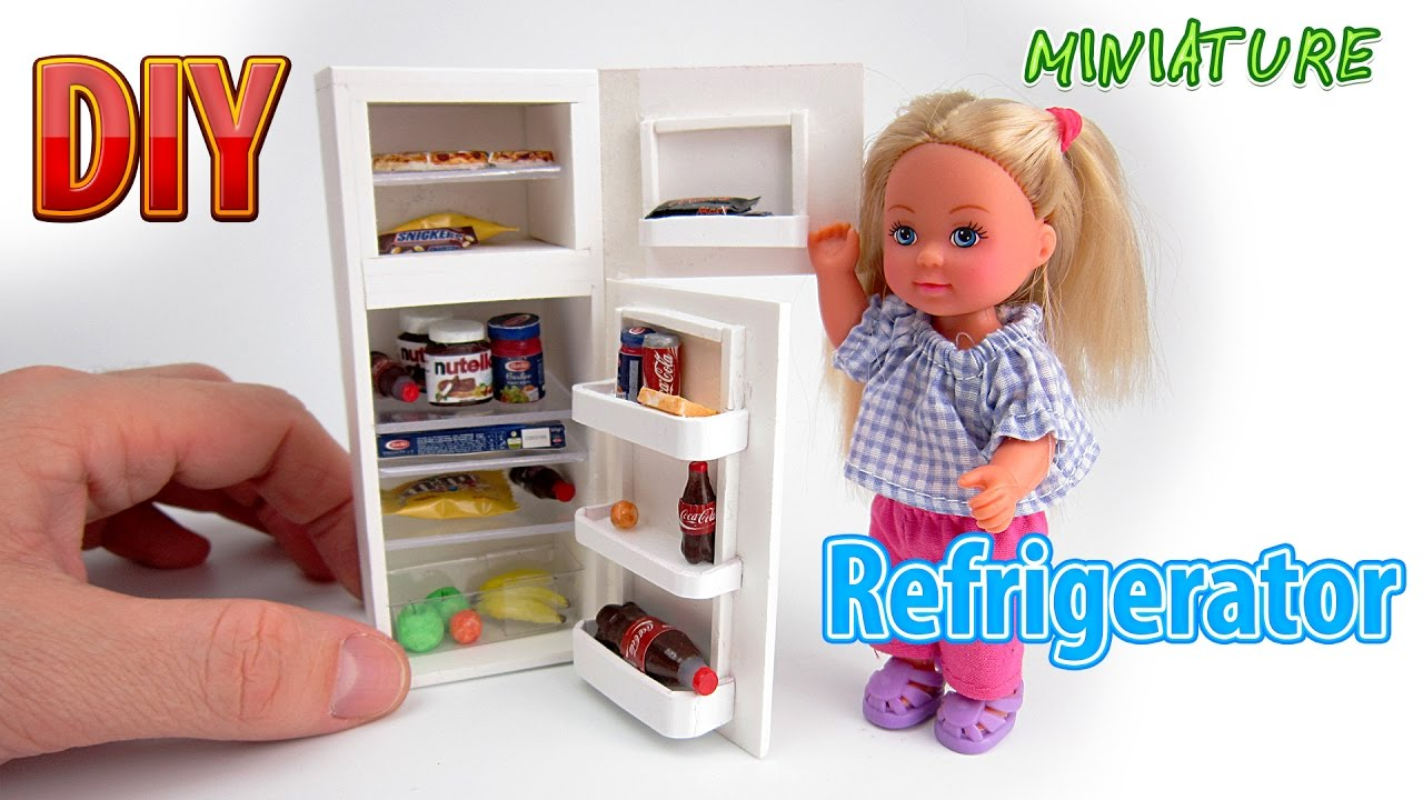 Diy Realistic Miniature Refrigerator Dollhouse No