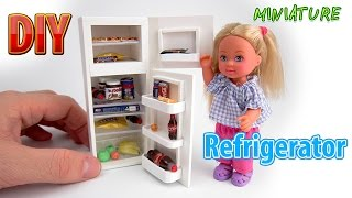 DIY Realistic Miniature Refrigerator | DollHouse | No Polymer Clay!
