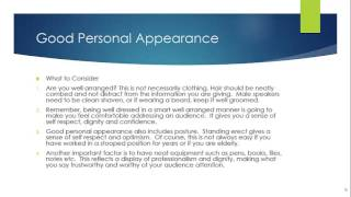 Public Speaking Course Lesson 15 Good Personal Appearance
