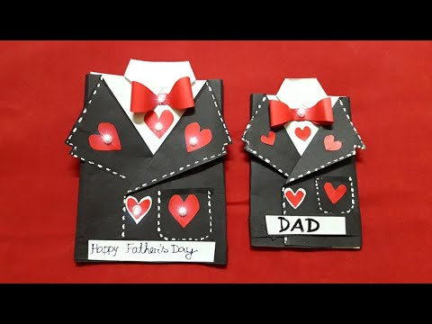 DIY/ Suit Jacket Card/Tuxedo Greetings Card/How to make Card for Birthday/Fathers day/Valentineday
