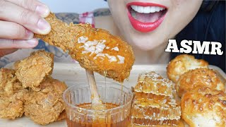 ASMR FRIED CHICKEN + HONEYCOMB (EXTREME EATING SOUNDS) NO TALKING | SAS-ASMR
