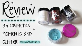review bh cosmetics party girl pigments glitters